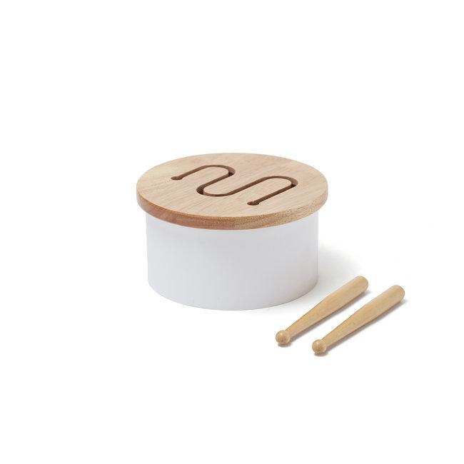 Mini houten trommel - Wit
