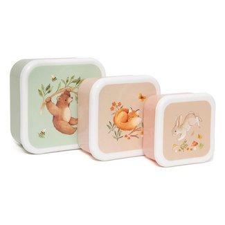 Petit Monkey Petit Monkey Lunchbox Set van 3 Bear And His Friends