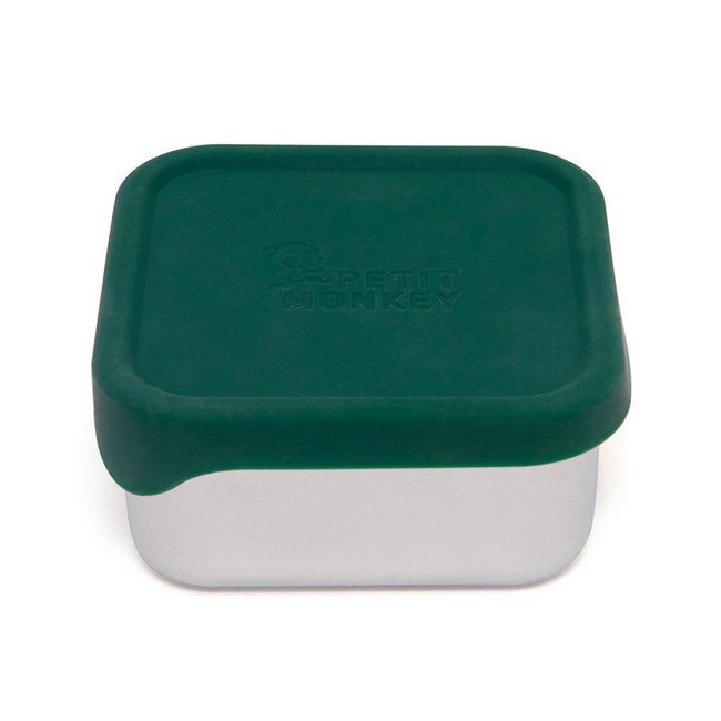 Petit Monkey Lunchbox RVS Mae Pine Green