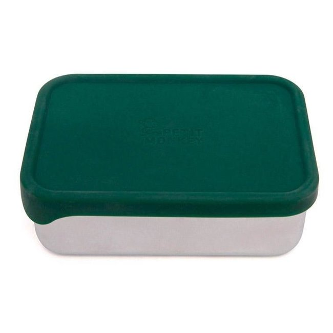 Petit Monkey Lunchbox RVS Riley Pine Green