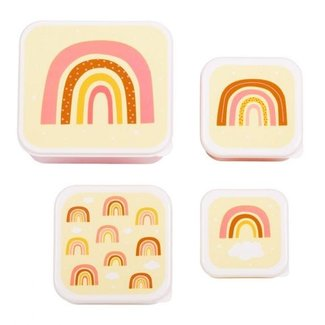 A Little Lovely Company Lunch & snack box set: Rainbow | A little lovely company