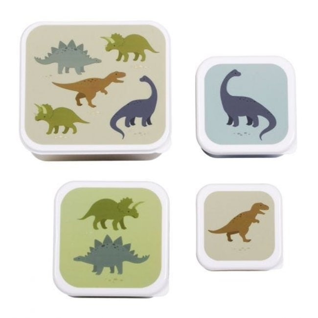 A Little Lovely Company Lunch & snack box set: Dinosaurus   A little lovely company