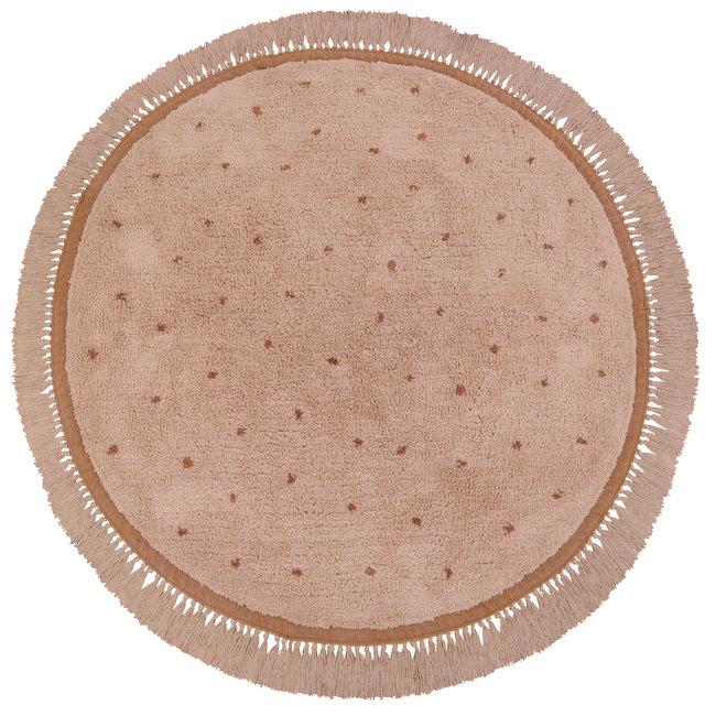 Vloerkleed Juul Dot Pink 130x130cm - Tapis Petit
