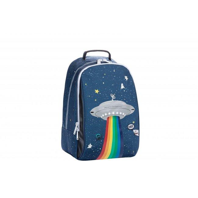 Jeune Premier Rugzak James Space Rainbow met lichtje