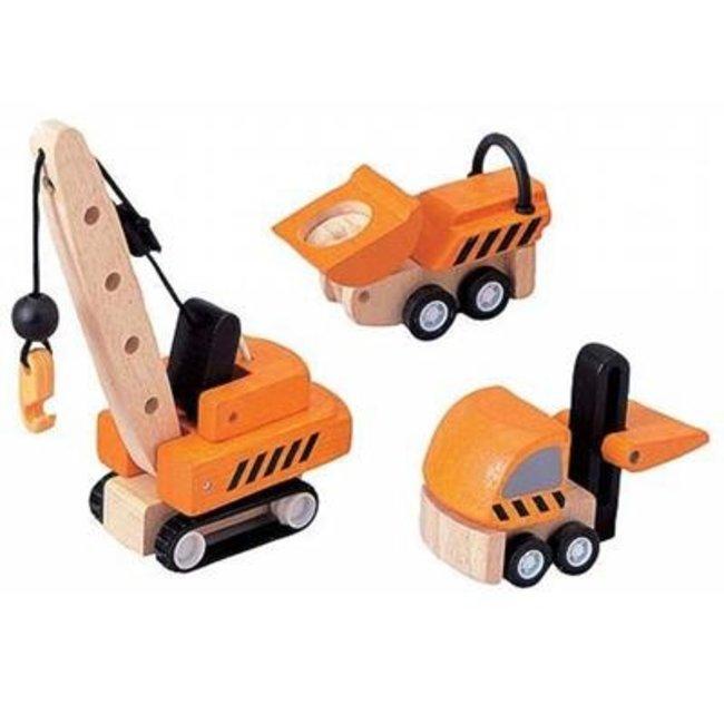 Plan Toys Constructie Voertuigen Set van 3