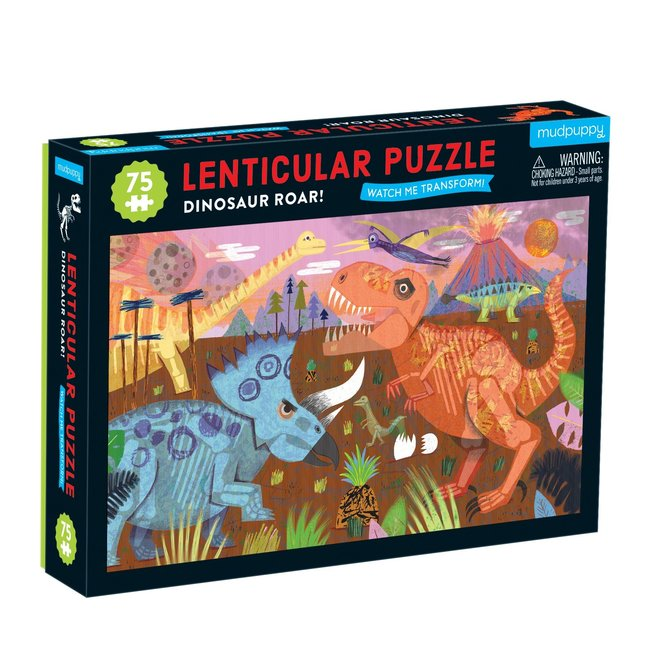 Mudpuppy Lenticular Puzzel Dinosaur Roar 75st.