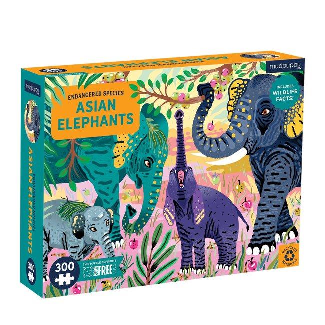 Mudpuppy Puzzel Asian Elephants - 300 stukken