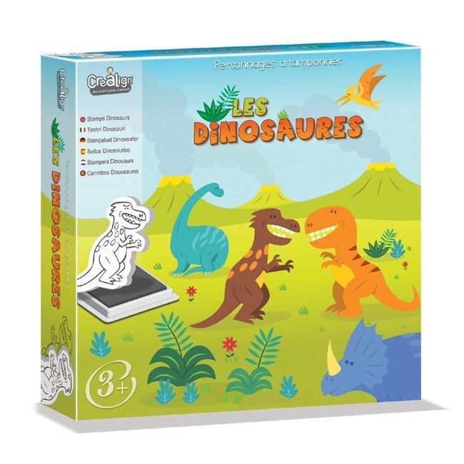 Crea Lign Stempelset - Dinosaurussen