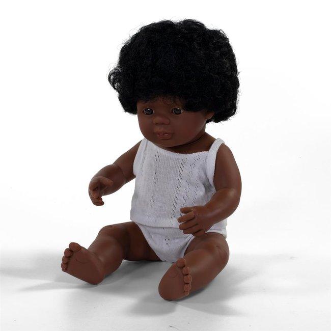 Miniland Pop Afro-Amerkiaans Meisje 38 cm