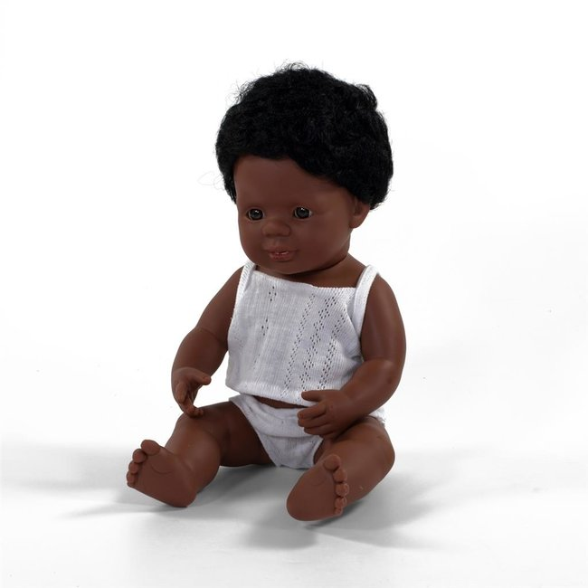 Miniland Pop Afro-Amerikaanse Jongen 38cm