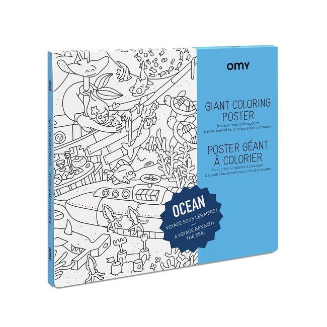 OMY Inkleurposter - Oceaan