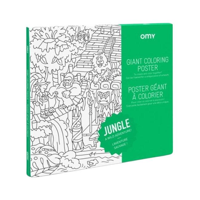 OMY Inkleurposter - Jungle