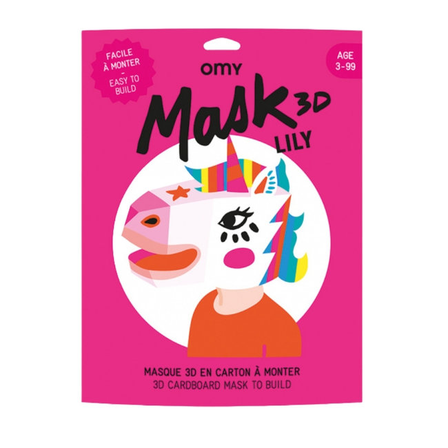 OMY 3D Masker - Unicorn Lily