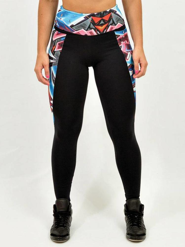 GraffitiBeasts Dames sportlegging met uitbundige graffiti print afkomstig van Graffitiartiest KATRE