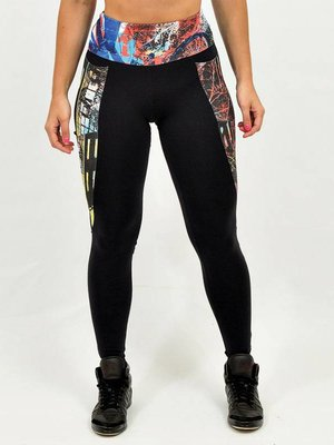 GraffitiBeasts Women's sports leggings with exuberant graffiti print from Graffiti artist 2ESAE