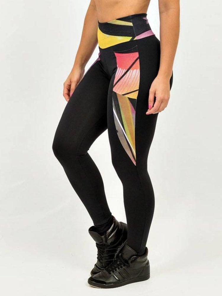 GraffitiBeasts Trun - Damen Inverse Sportlegging mit Graffiti Design