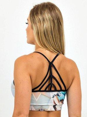 GraffitiBeasts Dames top voor het sporten model Leopard van ontwerper TELMO & MIEL