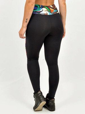 GraffitiBeasts Does - Women Inverse Sportlegging with Graffiti Design