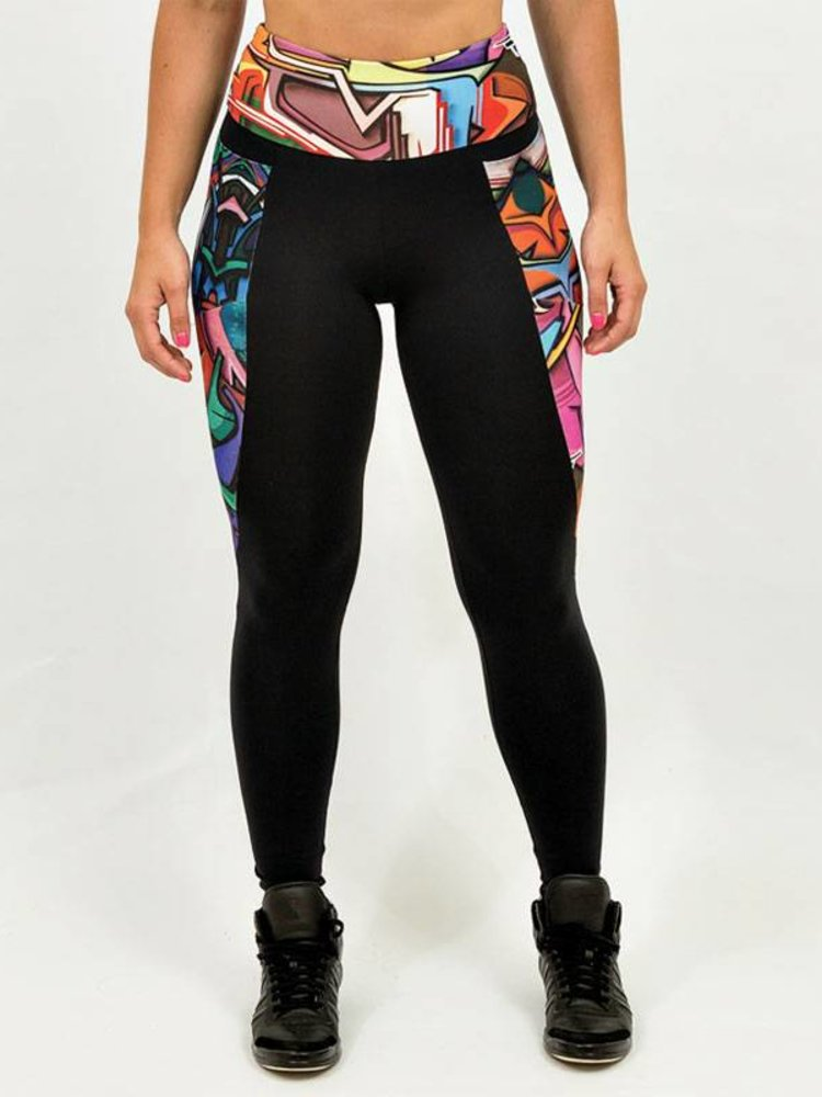 GraffitiBeasts Dames Inverse Sportlegging met Graffiti Design door DOES