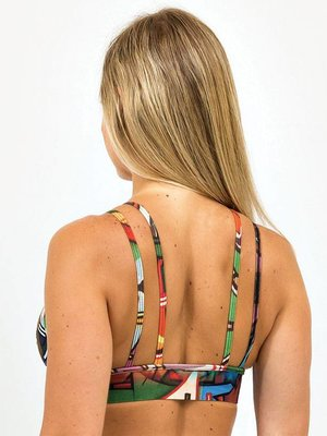 GraffitiBeasts Does - Top voorzien van uniek graffitiprint  in  model strapy