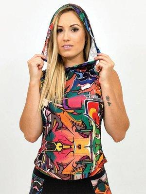 GraffitiBeasts Damen Hoodie mit Aufdruck  DOES