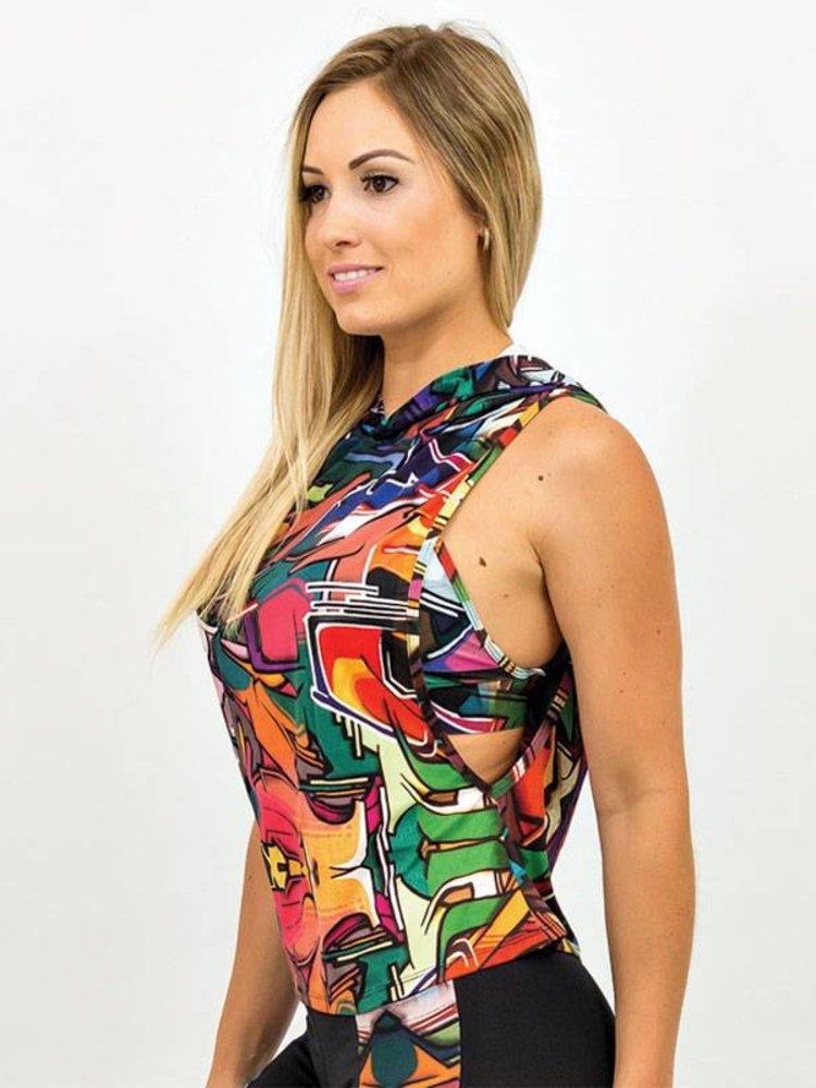 GraffitiBeasts Does - Dames hoodie met bijzondere graffiti print