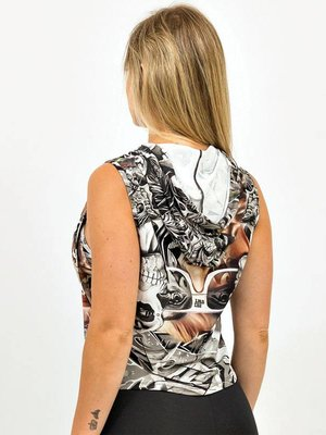 GraffitiBeasts Ladies hoodie with striking graffiti print