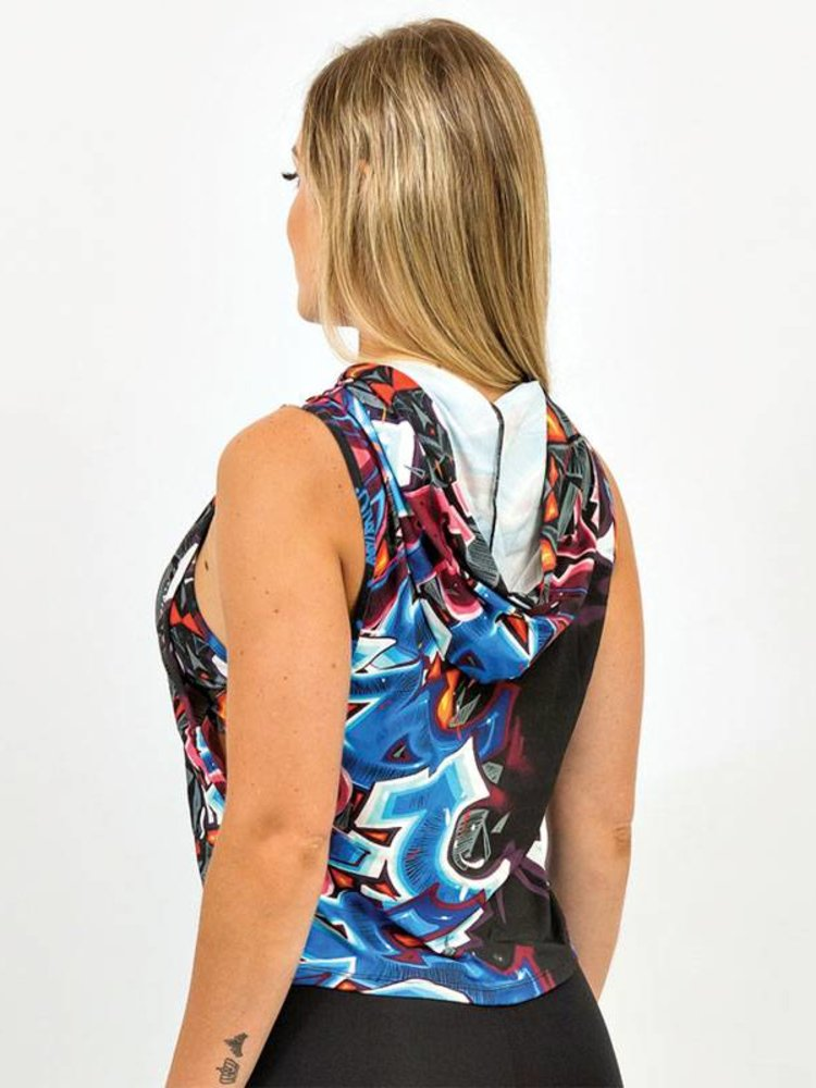 GraffitiBeasts Katre - Dames hoodie voorzien van bijzonder graffiti design