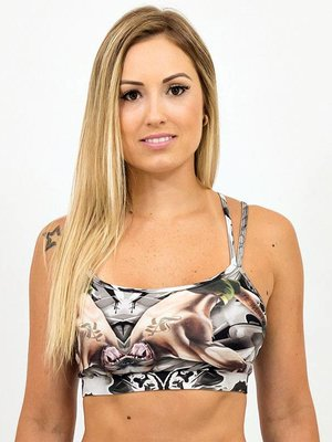 GraffitiBeasts Top with graffiti print model  Spider COSTWO
