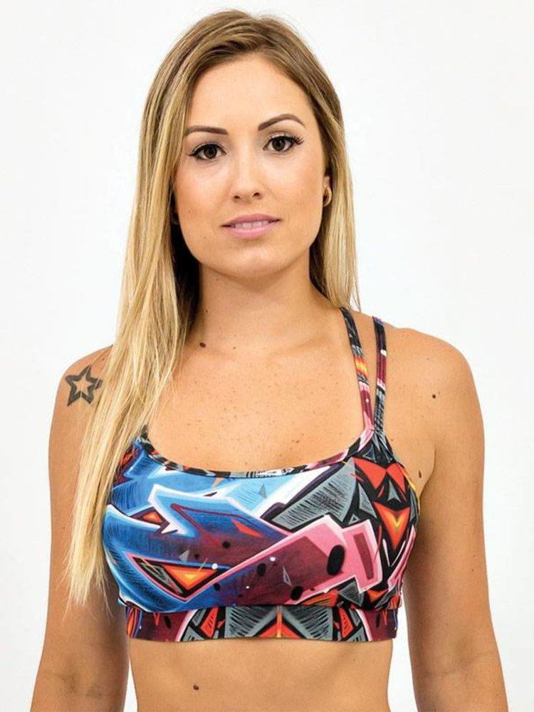 GraffitiBeasts Katre - Top met graffitiprint in model Spider
