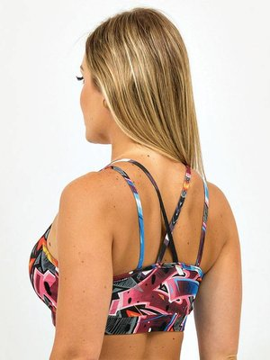 GraffitiBeasts TOP WITH BEAUTIFUL DETAIL AT THE BACK. THE GRAFFITIPRINTS ARE ARTWORKS ON THE WORLD.