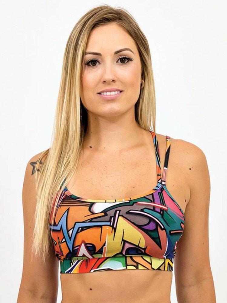 GraffitiBeasts Model Spider top voorzien van een prachtige graffiti print van DOES