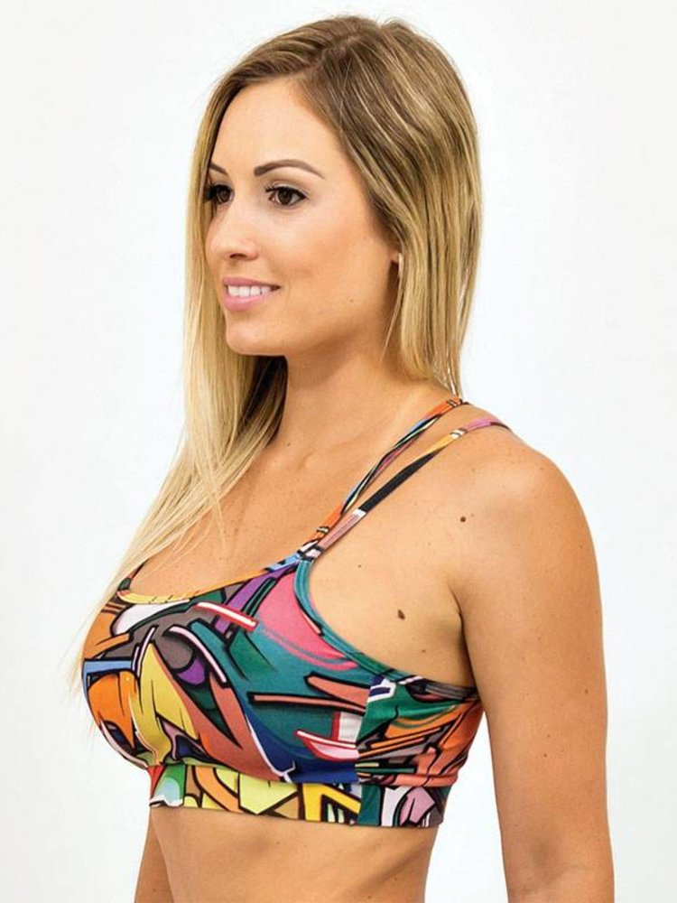 GraffitiBeasts Does - Top met graffitiprint in model Spider