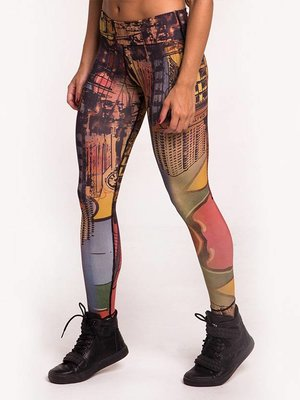 GraffitiBeasts Classic Dames Sportlegging met print