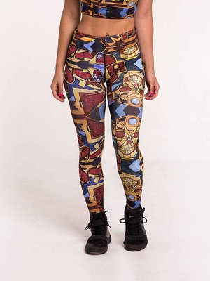 GraffitiBeasts Pariz One - Damensportlegging in der Classic-Version mit Graffiti-Print