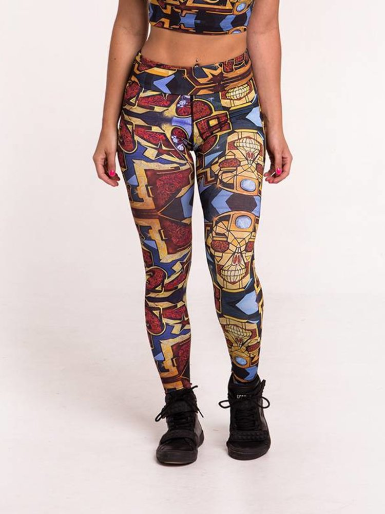 GraffitiBeasts Pariz One - Ladies' Sportlegging in the Classic version with graffiti print