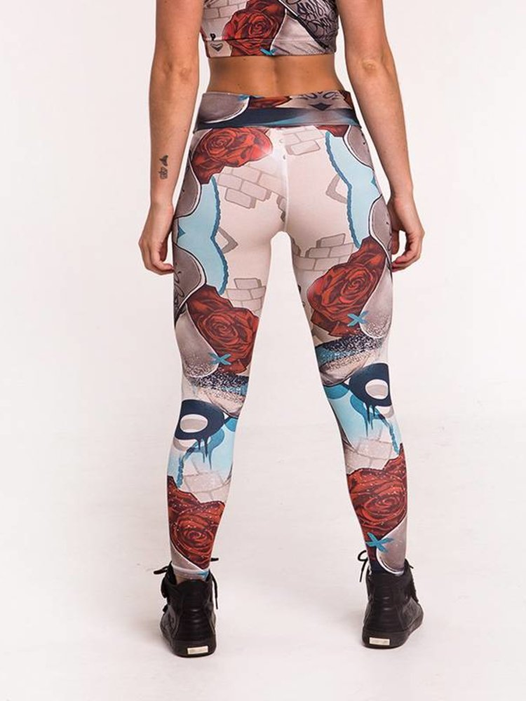 GraffitiBeasts Mr. Dheo - Damensportlegging in der Classic-Version mit Graffiti-Print