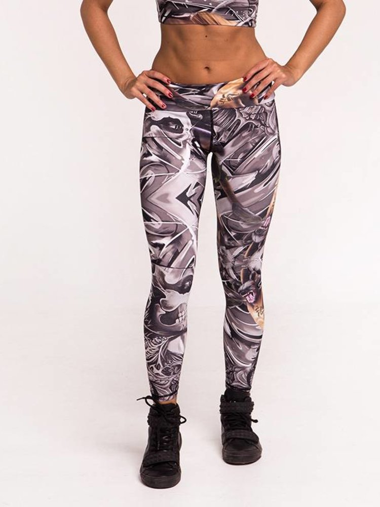 GraffitiBeasts Cost Two - Ladies' Sportlegging in the Classic version with graffiti print