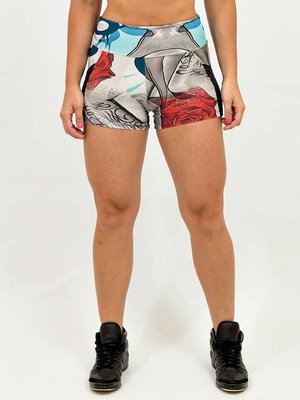 GraffitiBeasts Mr. Dheo - Ladies shorts with striking Graffiti-print