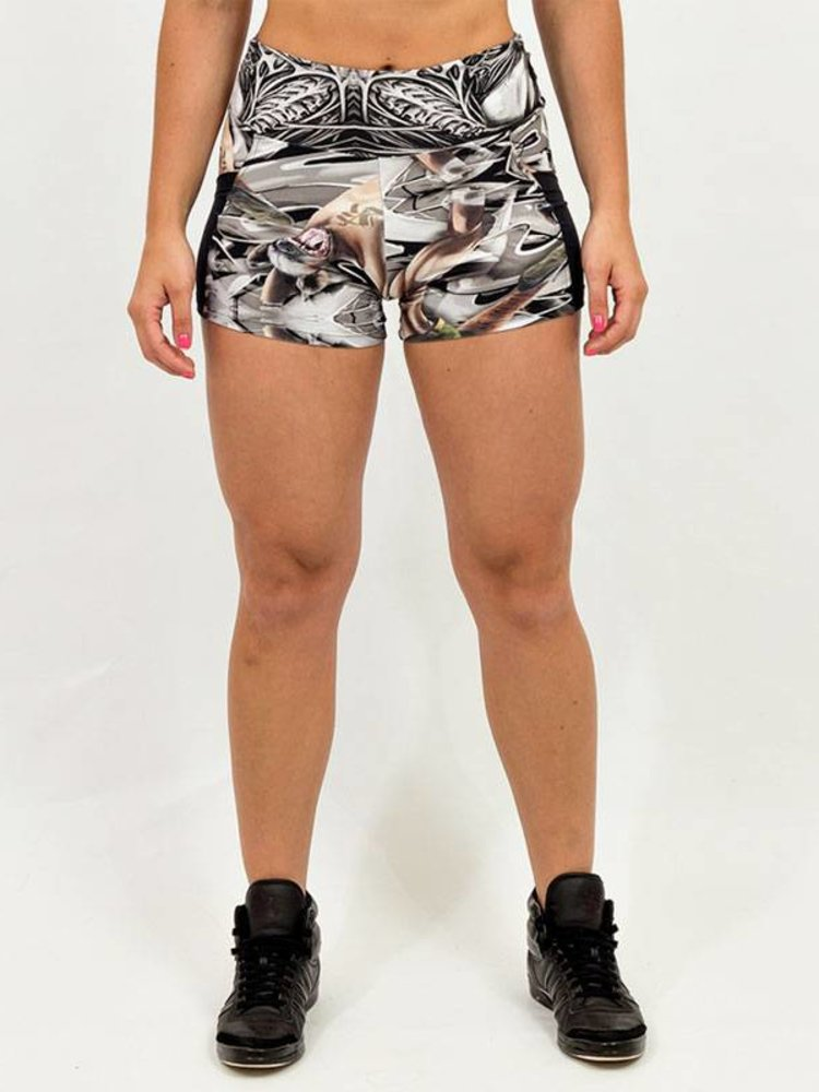GraffitiBeasts Cost Two - Ladies shorts with striking Graffiti-print