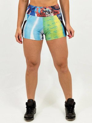 GraffitiBeasts 2ESAE - Dames shorts 2ESAE graffiti print door de  ontwerper