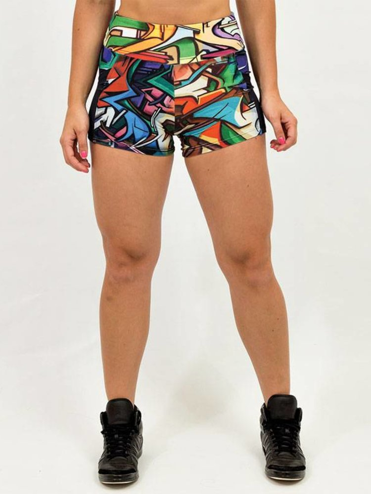GraffitiBeasts Does - Paaldans dames shorts van de graffiti ontwerpers