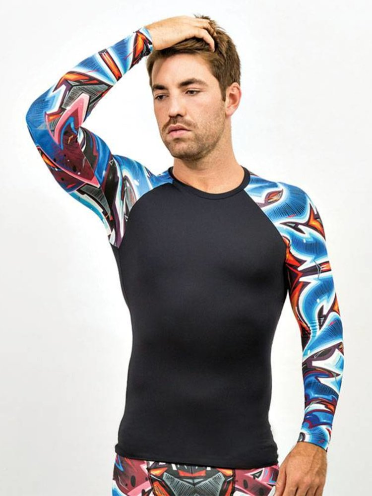 GraffitiBeasts Katre - Herren sport tight mit graffiti-Print