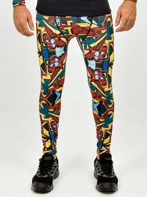 GraffitiBeasts Pariz One - Herren sport tight mit graffiti-Print