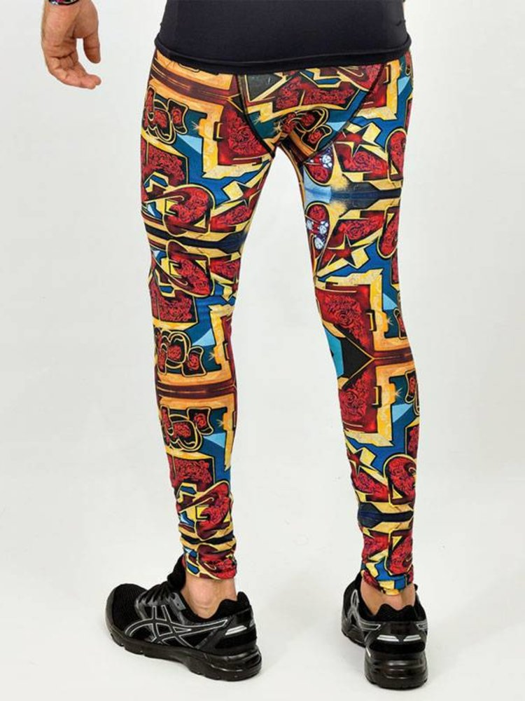 GraffitiBeasts Pariz One - Heren sportlegging met graffiti design