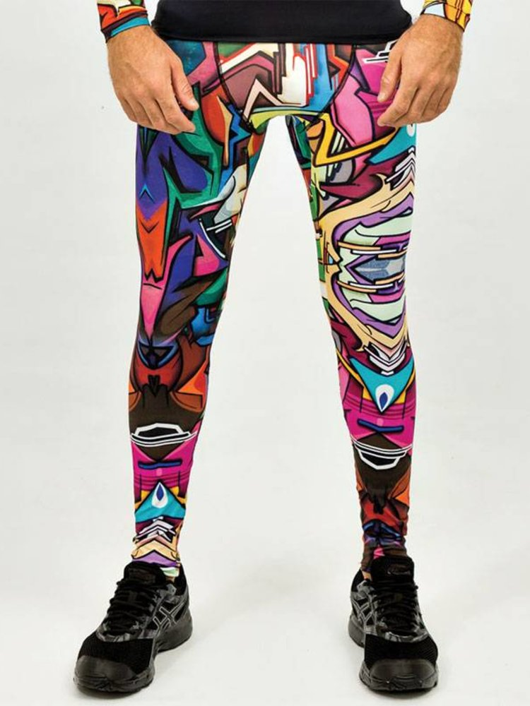 GraffitiBeasts Men's tight with graffiti design by designer Does