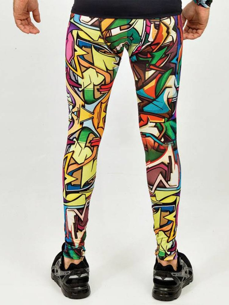 GraffitiBeasts Does - Men's sport tight with graffiti print