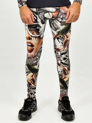 GraffitiBeasts Heren sport tight  met graffiti print