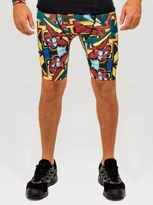 GraffitiBeasts Pariz One - Heren Running Short met graffiti design