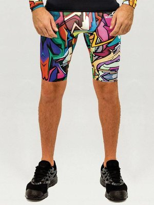 GraffitiBeasts Does - Heren Running Short met graffiti design